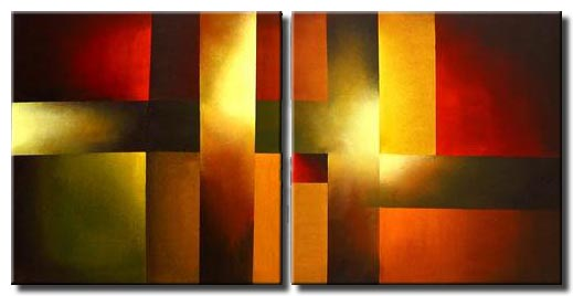 diptych abstract canvas