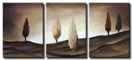 cypress trees painting