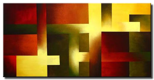 red yellow abstract squares