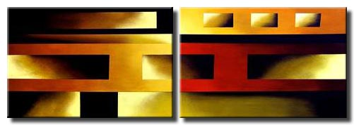 diptych abstract art