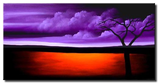 purple rain landscape painting