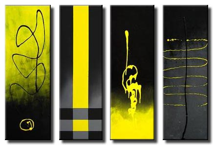 yellow black contemporary painting