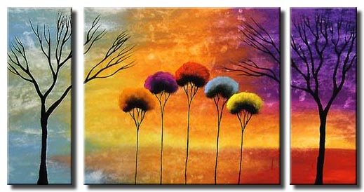 abstract trees painting