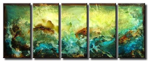 green turquoise abstract art