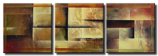 triptych geometric art