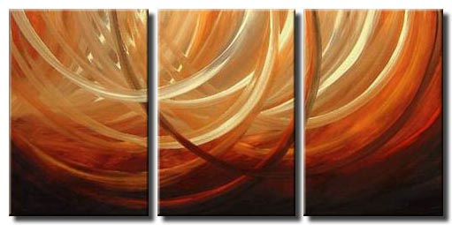 triptych canvas waves