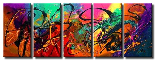 multi panel colourful abstract