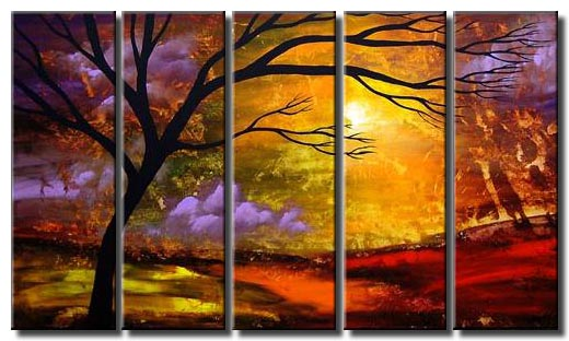 multi panel landscape art