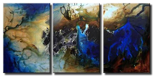 large abstract sark blue