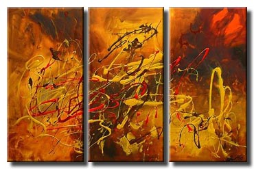 red yellow abstract painting