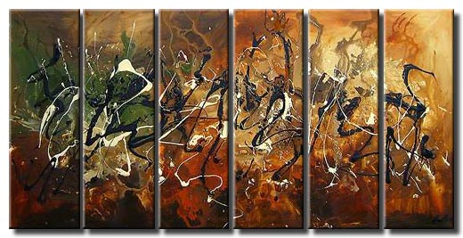 multi panel canvas modern painting