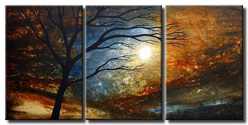 triptych canvas landscape decor