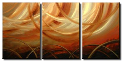 triptych home decor painting