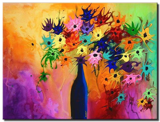 abstract vase painting