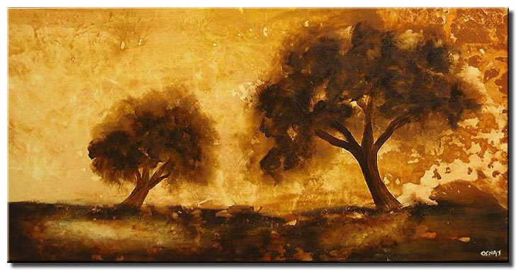 abstract brown trees