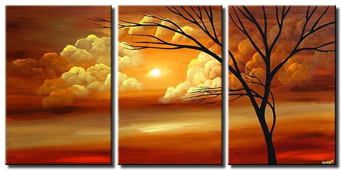 multi panel canvas landscape