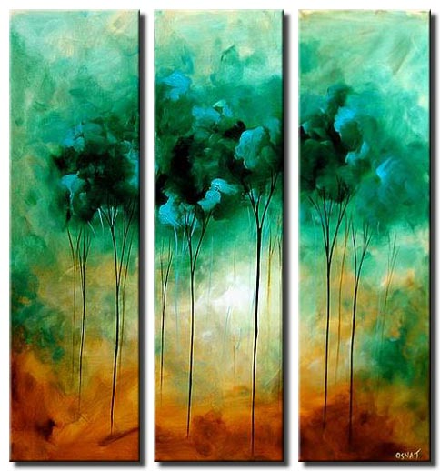 green trees painting