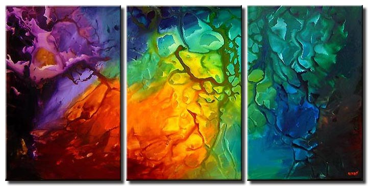 bold colorful abstract art