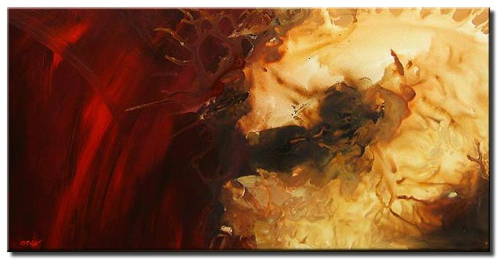 bright red large canvas art