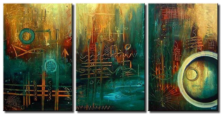 abstract triptych modern