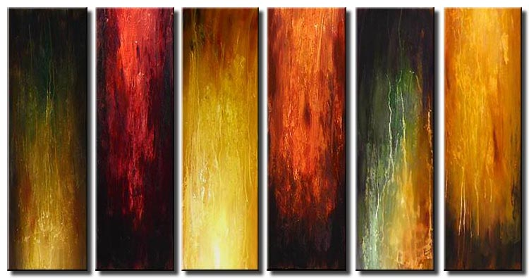 large vertical multi panel abstract