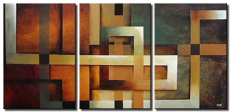 geometrical painting lines squares