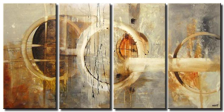 multi-panel soft abstract art