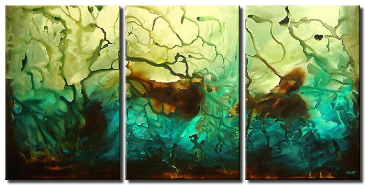 triptych canvas abstract art