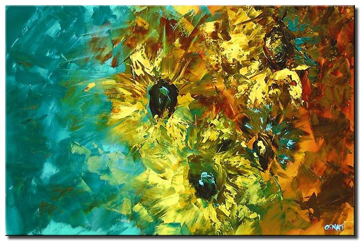 abstract paiting of large flowers