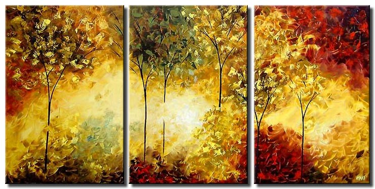 triptych of the beautiful forest