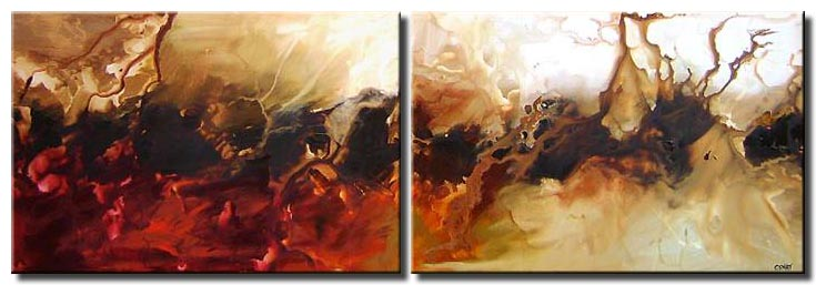 white dunes diptych abstract