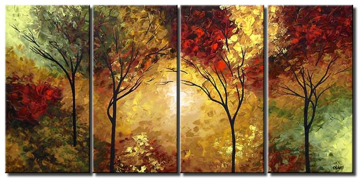 multi panel canvas forest landscape