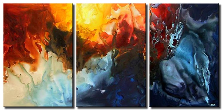 large canvas modern colorful decor
