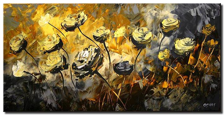 abstract floral painting spring decor