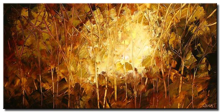indian summer landscape painting monochromatic