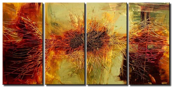 multi panel modern wall decor sunflower