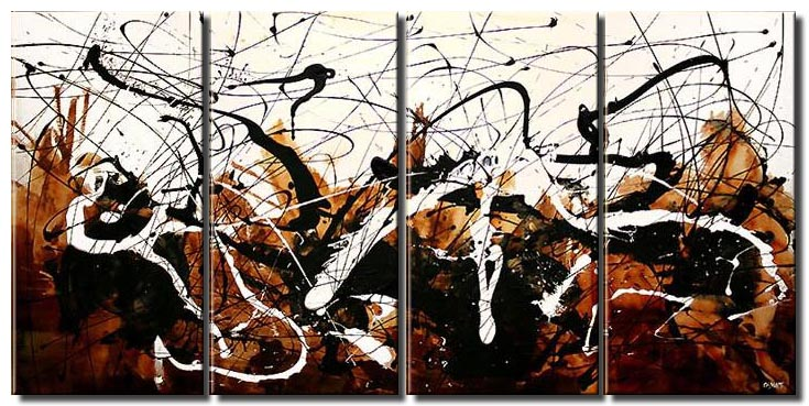 multi panel modern white abstract art