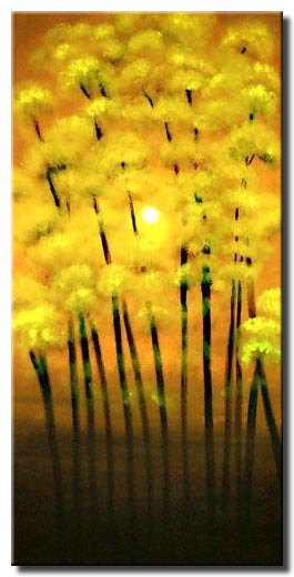 yellow blooming trees paintings