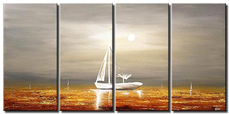 sailboat painting multi panel sea