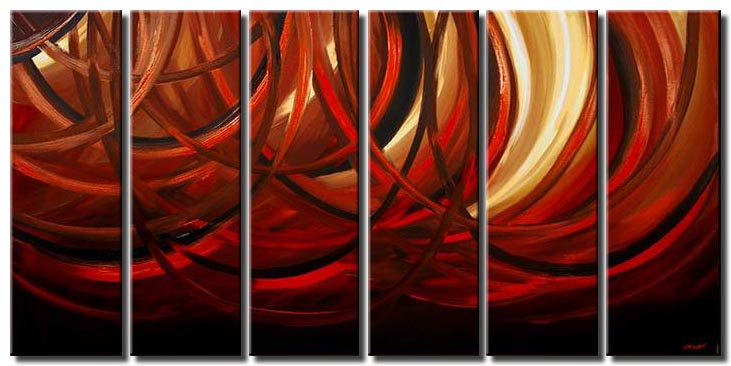 large waves abstract art multi panel