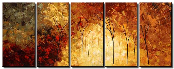 the fifth season forest painting multi panel