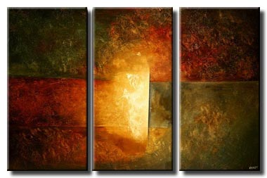 triptych abstract painting large wall decor