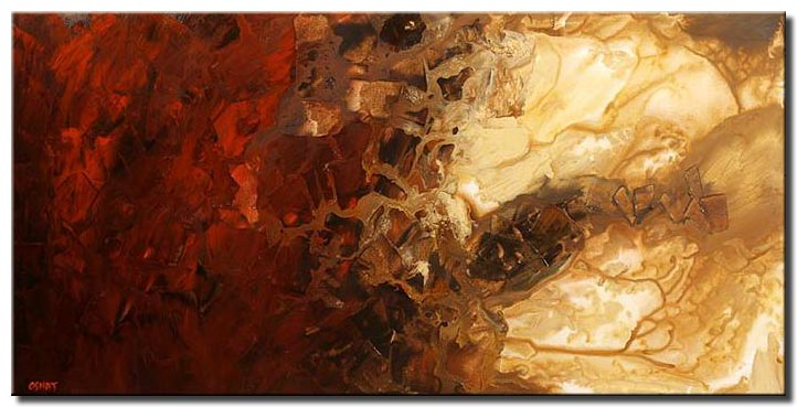 large modern abstract painting soft mars