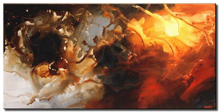 large modern abstract art soul earth tones