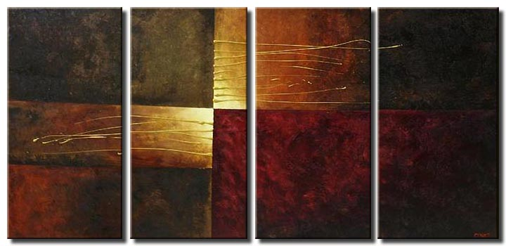 geometrical painting multi panel elegance