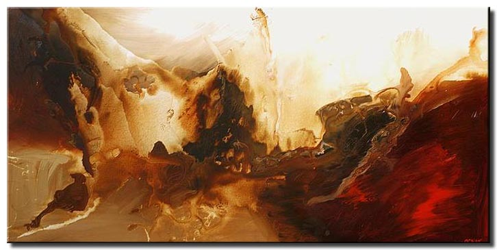 abstract contemporary painting large continent