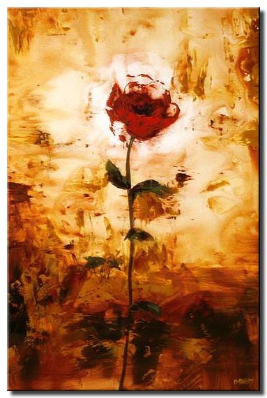 abstract rose painting flower floral summer