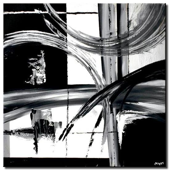 Painting For Sale Black And White Abstract Painting Decor 4604
