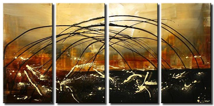 abstract multi panel painting bridge