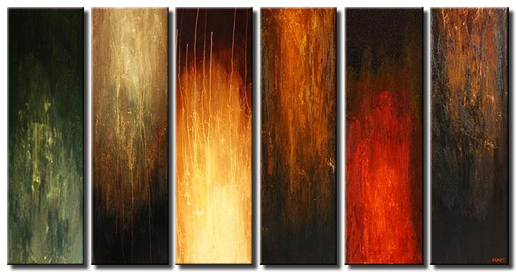 modern painting sixth sense vertical multi panel